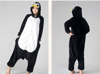 eshop Unisex Adult Animal onesies Cosplay Costume Black Penguin Kigurumi Pajamas halloween costumes for women Sleepwear