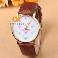 Fashion Leather Watch wave bottom Patterned for men Lady PU Leather Wrist newest Quartz watch G-8007#