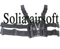 Tactical Hunting Drop Leg Holster Platform Panel for CQC holster Black