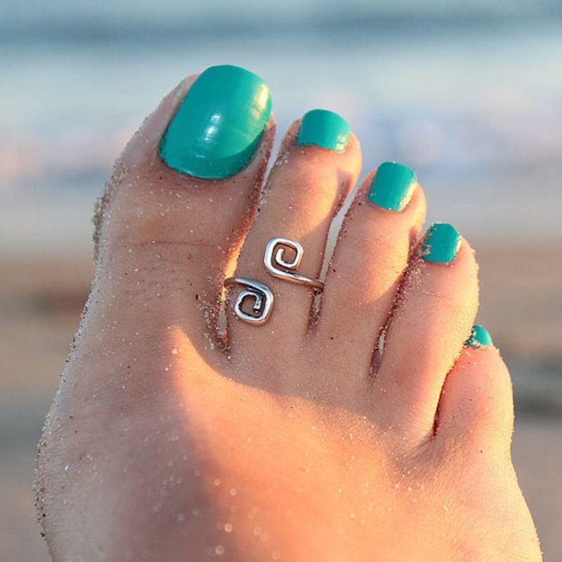 New Arrival Retro Style Unique Chic Beach Wear Fashion Toe Ring Midi Ring