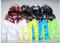 2014 brand Spell color camouflage jacket Men's leisure is prevented bask in clothes thin jackets coats for men and women