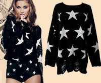 blusas femininas de inverno mohair blusa bordada tricot blouse knitted sweater  womens knitted jumpers star jacquard thick