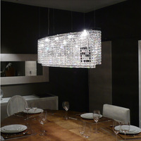 Free shipping curved k9 crystal chandelier F Black-and-white chandelier for dining room 110-240V