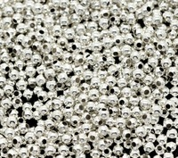 Free Shipping ! Wholesale 3000 Silver Plated Smooth Metal Round Spacers Beads 2mm