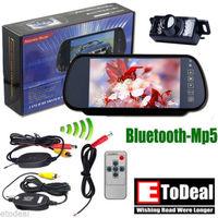 7 inch MP5 Bluetooth  Car Rear View Mirror Monitor Wireless Backup Camera Auto On Reversing