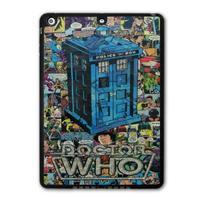 For iPad 5 Air/iPad Mini Retro Doctor Who Tardis Comic Book Protective Black TPU Soft Shell Cover Case P23