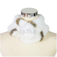 2014 Autumn Winter Genuine Natural Rabbit Fur Scarf  Women Fur Accessory Wrap Lady Neckerchief QD30359