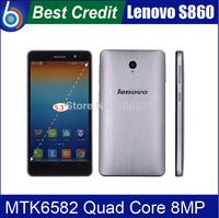 in stock Lenovo S860 Quad Core WCDMA 1G RAM 16G ROM MTK6582 Quad core1.3GHz Android4.2 8MP 5.3'' HD 1280*720 4000mAh battery/Eva