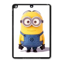 For iPad 5 Air/iPad Mini/iPad 2 3 4 Free Shipping Lovely Cute Minion Funny Protective Black Hard Shell Cover Case P85