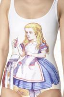 Alice in Wonderland Alice swimsuit one piece bodysuit 037
