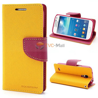Mercury Goospery Fancy Diary Case Leather Wallet for Samsung Galaxy S4 mini i9190 i9195 Freeshipping
