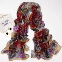 Fashion Flower Silk Chiffon Neck Scarf Wrap Shawl Stole Neck Wrap Women  sf1044