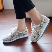 Spring all-match kilen n letter casual flat heel single shoes sport shoes platform women's shoes men's plus size