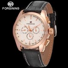 FORSINING FSG6625M3R2 2014 new Automatic fashion dress Men watch tourbillon rose gold wristwatch for men best