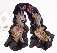 Beautiful New Floral Long Chiffon Scarf Wraps Shawl Soft Scarves  sf6105