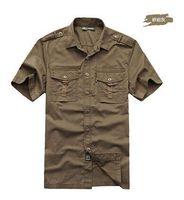 Free shipping big size loose cotton shirt men outdoor men casual shirt thin short-sleeved shirts for men summer clothing