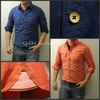 scotch soda NETHERLANDS-JULI dozen sewing cotton men shirt long-sleeve shirt Slim sense