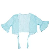 Y blue all-match short design mantillas spa women's net shirt swimwear outerwear cape shirt