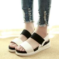 2014 women's summer shoes fashion open toe sandals comfortable elastic strap platform paltform fast free shipping comfortable