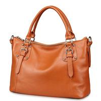 Women leather handbags 100% genuine leather messenger bags high quality shoulder bag simple design vintage bags 3P0863