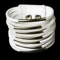 12Pcs/Lot 13 Layer Filaments Belt Buckle PU Leather Fashion Bracelet Free Shipping
