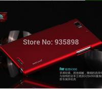 Screen protector+mobile case bag Lenovo K900 case free shipping top quality AIXUN back bag for Lenovo K900 from shenzhen