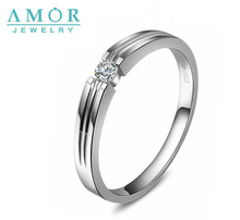 AMOR  WITNESS OF  LOVE SERIES NATURAL DIAMOND 18K WHITE  GOLD LOVERS RING JBFZSJZ020