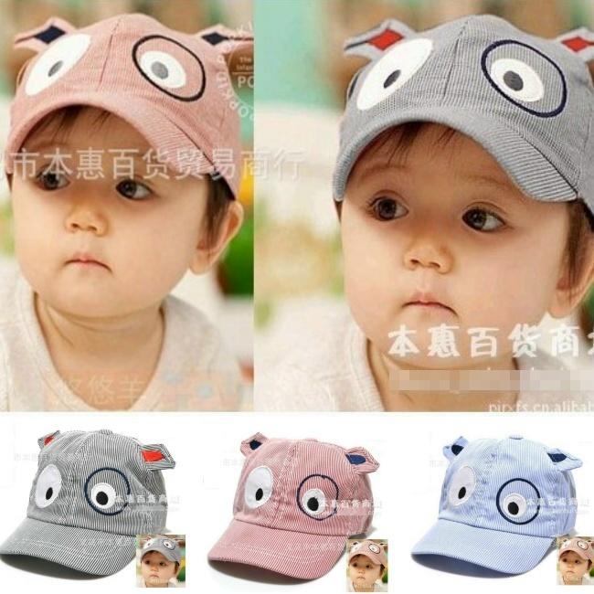 Unisex Lovely Cartoon Dog Shape Children Baseball Cap Baby Hat Sport CCAP024(China (Mainland))