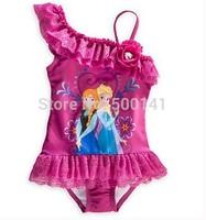 2014 Frozen Swim Children Girls Frozen Swimsuit Bikini Wear One Piece Swim wear Bodysuit Frozen clothing Swimsuit Free Shipping