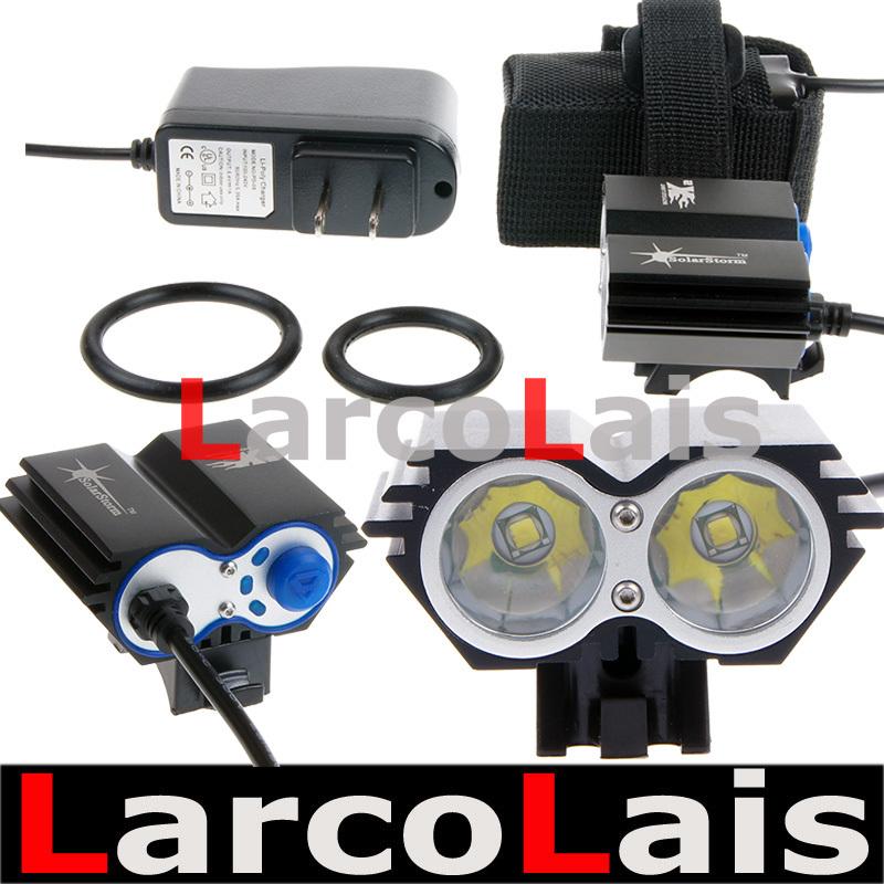4 Model 2x Cree XML U2 LED Bicycle Bike Light 2000 Lumens Power Indicate 8.4v Battery Pack Rechargeable(China (Mainland))