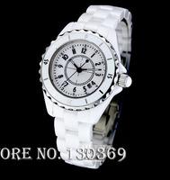 2014 new women dress watches ladies luxury brand white ceramic sapphire glass high quality fashion clock ladies quartz watch