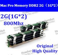 Free shipping 2pcs Original MACPRO Memory Mac Pro 1,1 2,1 3,1 DDR2 800 FB-Dimm 2GB (1GBx2) DDR2 PC2-6400 ECC DDR2-800 w/pple