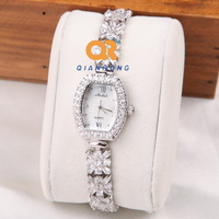 Diamond quartz watch women ladies fashion wrist watch rectangle Dial full diamond surface XZ6-M-8116#
