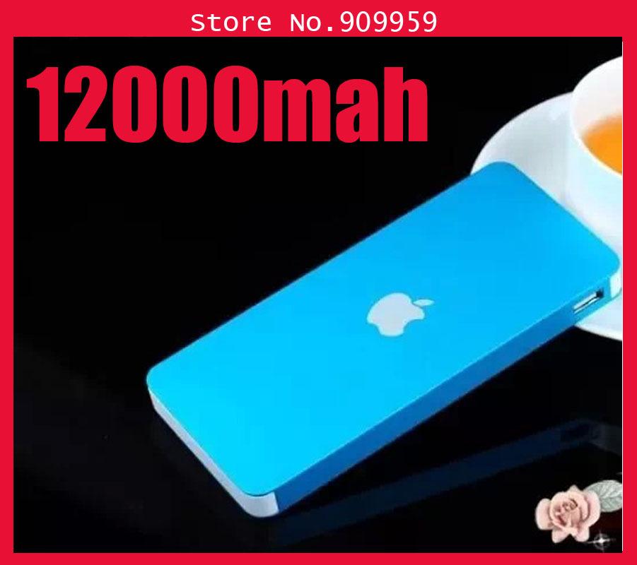 Metal Polymer Mobile Phone Dual USB Power Bank 12000mah Li-polymer battery for Iphone/Samsung/HTC/Motorola/tablet pc(China (Mainland))