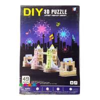 DIY 3D three-dimensional jigsaw puzzle toys for children handmade architectural models Gemini London Bridge