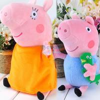 2014 brand new 2 pieces baby kids plush Mummy peppa pig toys son&mummy pig dolls anime pig peppa toys 20012 20013 CB025052