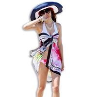Swimwear swimsuit beleaguer yarn bikini mantillas skirt beach towel