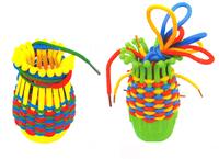 Children Puzzle basket weave toys / children desktop toys / manual preparation threading building blocks / 10 baskets