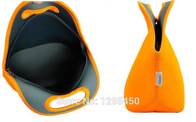 thermo saco de neoprene almoço com isolamento térmico para sacola mulheres crianças alimentos com zíper refrigerador almoço saco de caixa de isolamento(China (Mainland))