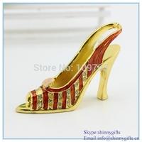 Wedding gift  high-heeled shoes shape jewelry box SCJ002