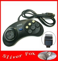 Free Shipping Summer Vacation Gift 2014 New Hot 6 Digital Button Controller Fighting Putt For SEGA Mega Drive & Genesis