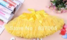 Wholesale children's girls tutu skirts fluffy pettiskirts 8colors available short yarn skirt(China (Mainland))