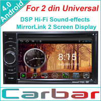 2014 Android 4.0 OS Car DVD GPS Player for 2 din Universal Dual Core 1GHZ CPU 512MB DDR3 3G Wifi DVR 1080P Russian Menu