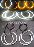 Dual color SMD LED ANGEL EYE HALO RING DRL light Lamp for BMW E36 E38 E39 E46 Projector Car headlight