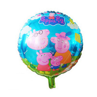 10Pcs 18inch Cartoon Whole Family Peppa Pig Foil Balloons Holiday Party Decoration Helium Balloon Gifts For Children Toys