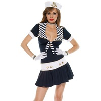 Sexy Cute Sailor Marine Fancy Party Dress Sea Costumes Free shipping Nautical Marine Sailor Costumes navy dress sexy uniforms