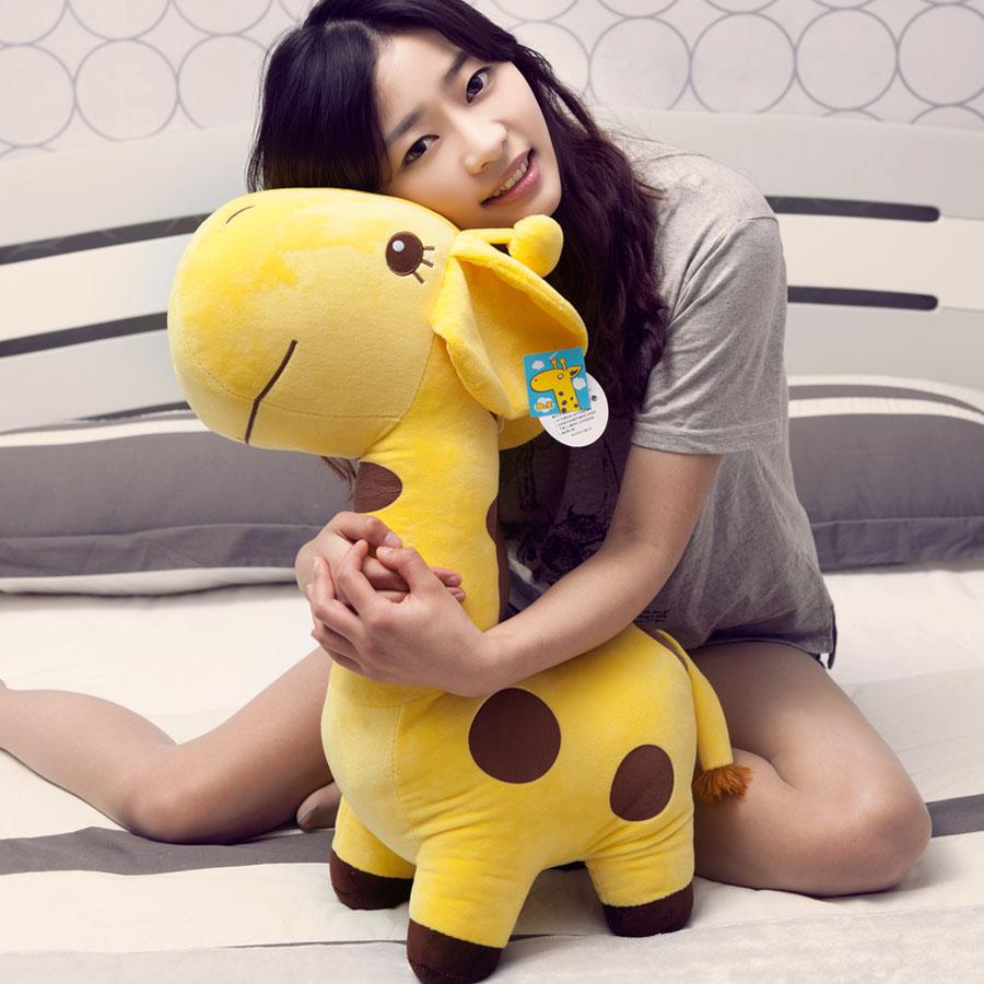 Cute giraffe plush toys, deer / sika deer plush dolls, send girls, Valentine's Day gifts, wedding / Children's Day gift 70cm(China (Mainland))