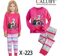 free shipping frozen girl girls snow man pajamas pyjamas pjs cotton
