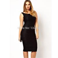 Dila Meng 2014 summer new large size women bottoming Slim sleeveless dress child dress women in Europe and America 6368