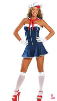 Sailor Costume Women navy dress sexy uniforms sailorgirl Captain uniform clubwear Sea Costumes sexy woman costume
